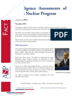Intelligence Assessments of Iran's Nuclear Program