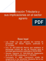 Administracion Tributaria - Incidencias Sector Agrario