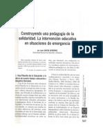 Pedagogía de la solidaridad. Educacion en situacion de emergencias -JGG.pdf