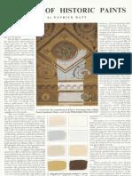 Palette of Historic Paints