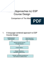 Topic 5 Models(Approaches to) ESP Course Design