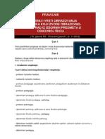 PRAVILNIK o vrsti stručne  spreme za nastavnike za izborne predmete 2012