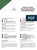 Folheto Evangelistico Bilíngue Português-Inglês