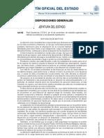RD - Ley 27/2012, de 15 de noviembre, de medidas urgentes para reforzar la protección a los deudores hipotecarios