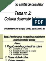 DT.tema 2. Cotarea Desenelor FCIM