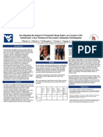 Poster #093 - Investigating the Impact of Traumatic Brain Injury on Caregiver Life Satisfaction