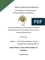 Tesis - Utilizacion de Los Sindicatos de Accionistas Minoritarios