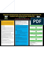 Poster #037 - Creating Opportunities for Postsecondary Education for Students with Intellectual Disabilities