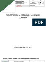 Proyecto Para La Adopcion de La Jornada Ompleta