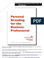 "eBook Gratuit ""Personal Branding for the Business Professional"" de Chris Brogan"