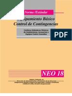 Equipamiento Basico Control de Contingencias