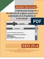 Sistema de Tuberia de Transporte de Oxigeno en Procesos Industriales de La Fundicion de Concentrado
