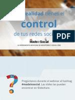 Webinar MadeinSocial Para Tomar Control de Tus Redes Sociales