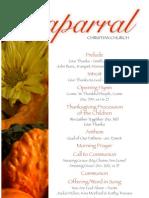 Sunday Bulletin for Chaparral Christian Church