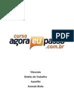 PDF AEP Tribunais DireitodoTrabalho Apostila KonradMota