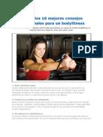 Los 10 Mejores Consejos Nutricionales Para Un Bodyfitness