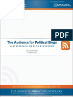 Audience for Political Blogs