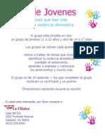 Casa del Sol - Grupo de Jóvenes Afectados por la Violencia Doméstica