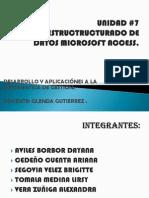 UNIDAD # 7 DISEÑO ESTRUCTURADO DE DATOS