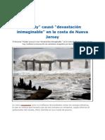 Sandy Causa Devastacion en La Costa de Nueva Jersey