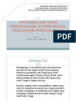 Implementasi Teori Perdagangan Internasional Dalam Sistem Perekonomian