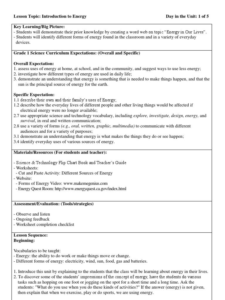 HH G1 Science 1   Vocabulary   Energy Development