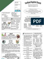 PBC Bulletin - September 9 2012