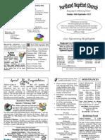 PBC Bulletin - September 16 2012