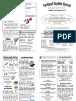 PBC Bulletin - September 23 2012
