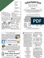 PBC Bulletin - October 21 2012