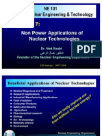 Non Power Applications of Nuclear Technologies, Dr Xoubi