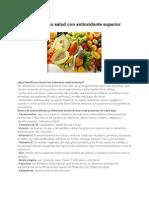 Restaure Su Salud Con Antioxidante Superior