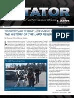 LAPD Reserve Rotator Newsletter Spring 2009