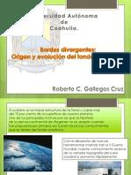 Bordes Divergentes,Origen y Evolucion Del Fondo Oceanico.