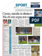 La Provincia Di Cremona 17-11-2012 - Calcio Lega Pro