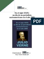 Julio Verne - En el siglo XXIX, un día de un periodista norteamericano en el año 2889