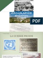 Manuel Histoire Géographie Education civique 3° La Guerre froide