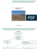 STUDY OF THE PERFORMANCE OF A GNSS EQUIPMENT AND ASSESSMENT OF THE QUALITY OF THE RESULTS FROM THE GEODETIC MEASUREMENTS IN AN OPEN FIELD ENVIRONMENT WITH ACTIVE DISTURBER