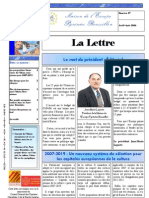 La lettre trimestrielle / Avril - Juin 2006