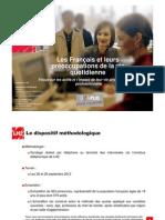 Les Français et leurs préoccupations de la vie quotidienne - Baromètre DOMPLUS 2012