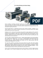 Improvements Servo Motors for More Efficiency and Fewer Cabling