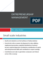 Entrepreneurship Management - 18th Jan 2011