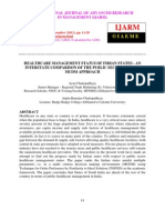 Healthcare Management Status of Indian States - An Interstate Comparison of the Public Sector Using a Mcdm Approach