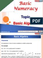 Basic Numeracy Basic Algebra