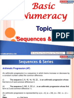 Basic Numeracy Sequences Series
