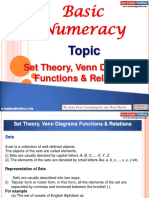 Basic Numeracy Set Theory Venn Diagrams Functions Relations