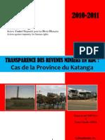 Rapport Sur La Transparence Des Revenus Miniers en RDC