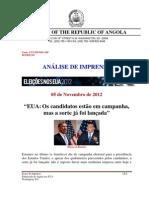 Analise de Imprensa de 05 de Novembro de 2012 Eua III Edicao