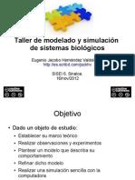 Taller de modelado y simulación de sistemas biológicos