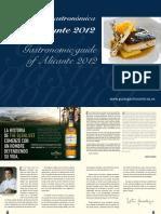 Gastronomia de Alicante (in spanish and english)